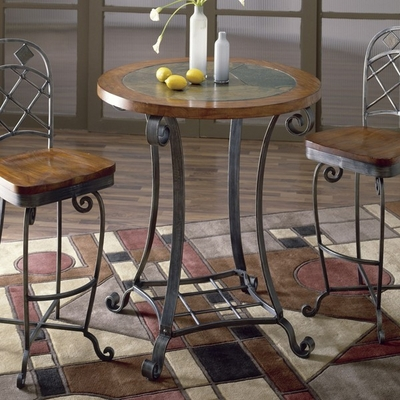 Riverside Harmony Pub Table Set with 2 Swivel Bar Stools - Riverside Furniture - 28058-28057