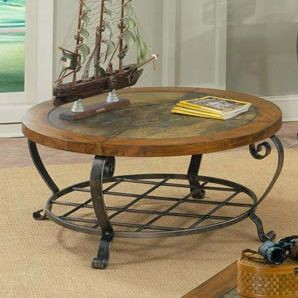 Riverside Harmony Round Coffee Table - Antique Oak Finish - Riverside Furniture - 28005