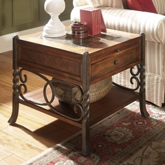 Riverside Medley Marble Marquetry Top End Table - Riverside Furniture - 45008