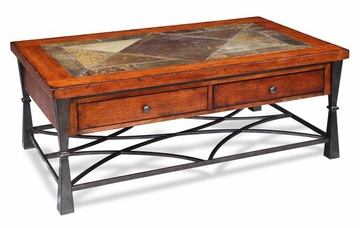 Riverside Santos Worn Adler Cocktail Table - Riverside Furniture - 9402