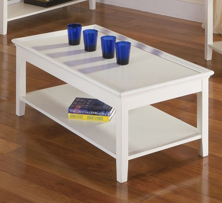 Riverside Splash Of Color Shores White Tray Top Cocktail Table - Riverside Furniture - 1204S