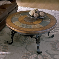 Riverside Stone Forge Round Cocktail Table - Riverside Furniture - 31005