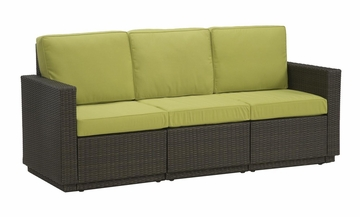 Riviera 3 Seater Sofa with Cushions in Green Apple - Home Styles - 5803-61