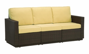 Riviera 3 Seater Sofa with Cushions in Harvest - Home Styles - 5802-61
