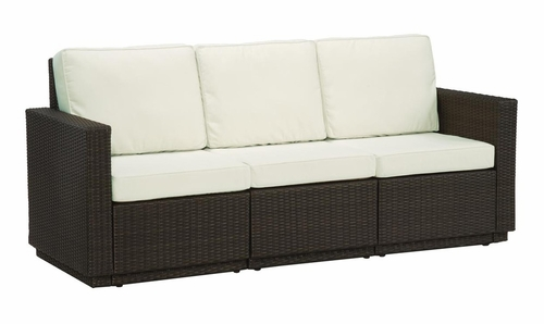 Riviera 3 Seater Sofa with Cushions in Stone - Home Styles - 5801-61