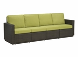Riviera 4 Seater Sofa with Cushions in Green Apple - Home Styles - 5803-63