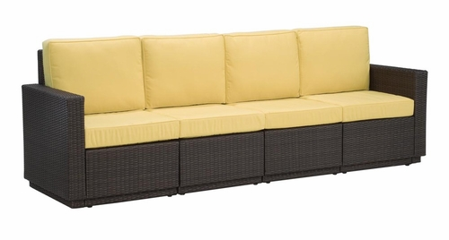 Riviera 4 Seater Sofa with Cushions in Harvest - Home Styles - 5802-63