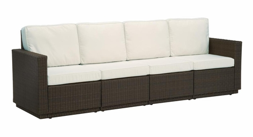 Riviera 4 Seater Sofa with Cushions in Stone - Home Styles - 5801-63