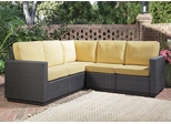Riviera 5 Seater L-Shape Sectional Sofa with Cushions in Harvest - Home Styles - 5802-62