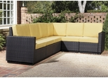 Riviera 6 Seater L-Shape Sectional Sofa with Cushions in Harvest - Home Styles - 5802-60