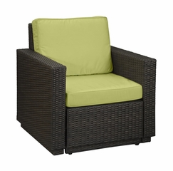 Riviera Arm Chair with Cushions in Green Apple - Home Styles - 5803-50