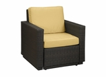 Riviera Arm Chair with Cushions in Harvest - Home Styles - 5802-50