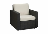 Riviera Arm Chair with Cushions in Stone - Home Styles - 5801-50