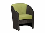 Riviera Barrel Accent Chair with Cushion in Green Apple - Home Styles - 5803-80