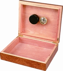 Riviera Cigar Humidor - Light Burl Finish - HUM-20RG