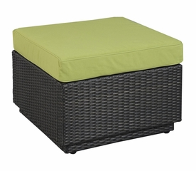 Riviera Ottoman with Cushion in Green Apple - Home Styles - 5800-9013