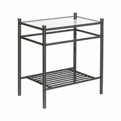 Rivington Nightstand in Matte Black - Hillsdale
