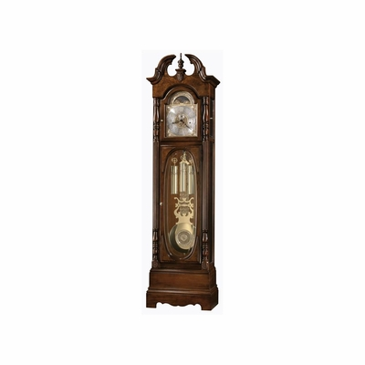 Robinson Grandfather Clock in Cherry Bordeaux - Howard Miller