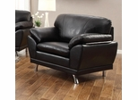 Robyn Bonded Leather Black Chair  - 504503