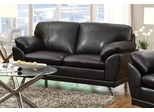 Robyn Bonded Leather Black Loveseat  - 504502