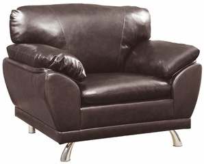 Robyn Bonded Leather Dark Brown Chair - 504513