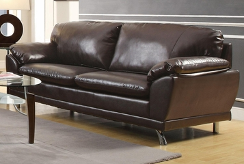 Robyn Bonded Leather Dark Brown Sofa  - 504511
