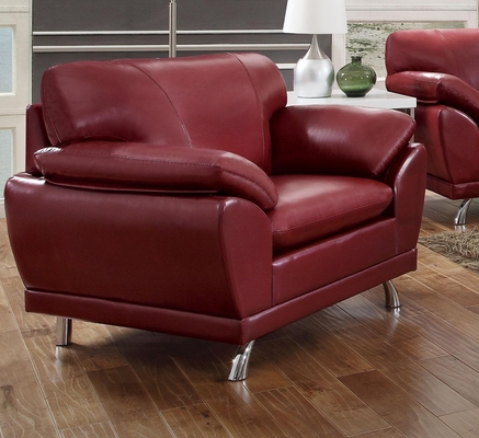 Robyn Bonded Leather Red Chair  - 504523
