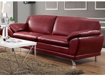 Robyn Bonded Leather Red Sofa  - 504521