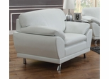 Robyn Bonded Leather White Chair  - 504543