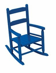Rocking Chair for Kids - 2-Slat Rocking Chair in Blue - KidKraft Furniture - 18103