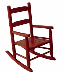 Rocking Chair for Kids - 2-Slat Rocking Chair in Cherry - KidKraft Furniture - 18122