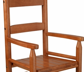 Rocking Chair for Kids - 2-Slat Rocking Chair in Honey - KidKraft Furniture - 18123