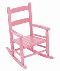 Rocking Chair for Kids - 2-Slat Rocking Chair in Pink - KidKraft Furniture - 18104