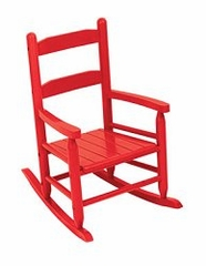 Rocking Chair for Kids - 2-Slat Rocking Chair in Red - KidKraft Furniture - 18102
