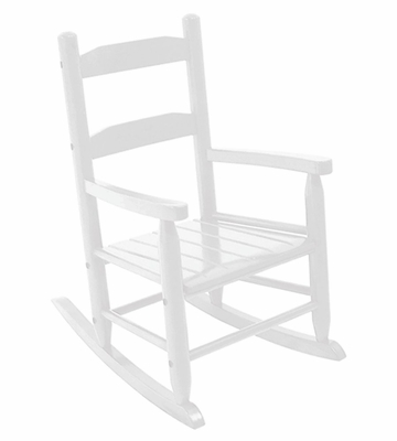 Rocking Chair for Kids - 2-Slat Rocking Chair in White - KidKraft Furniture - 18120