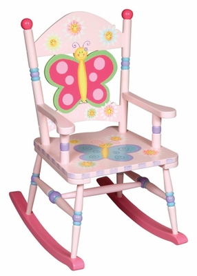 Rocking Chair for Kids - Butterfly Rocking Chair - Guidecraft - G83361