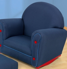 Rocking Chair for Kids - Denim Rocker with Ottoman Set - KidKraft Furniture - 18621