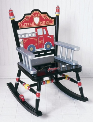 Rocking Chair for Kids - Fire Engine Rocker - RAB00024