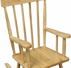 Rocking Chair for Kids - Spindle Rocking Chair in Natural - KidKraft Furniture - 18321
