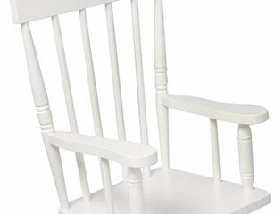 Rocking Chair for Kids - Spindle Rocking Chair in White - KidKraft Furniture - 18301