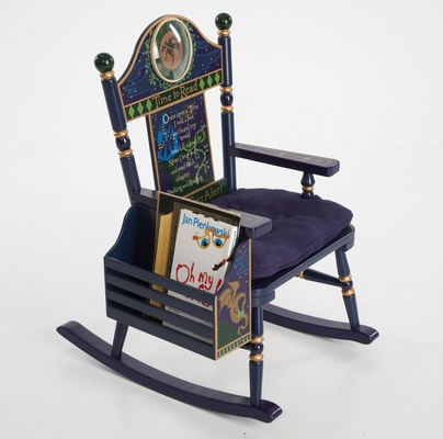 Rocking Chair for Kids - Time To Read Rocker - Boy - RAB00039