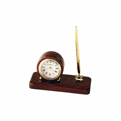 Roland Table Clock in Rosewood Hall - Howard Miller