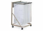 Rolling Stand with Hangers in Beige - Mayline Office Furniture - 9329HD5
