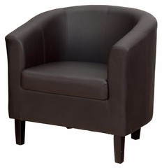 Roma Barrel Accent Chair in Chocolate - ROMA-CH-CHOCOLATE