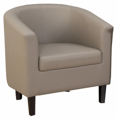 Roma Barrel Upholstered Accent Chair in Smoke - ROMA-CH-SMOKE