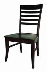 Roma Chair with Wood Seat (Set of 2) in Dark Walnut - C34-21P