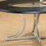 Roma Cocktail Table in Black Wood Top / Pewter Base - Hillsdale Furniture - 4250OTC