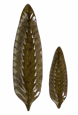Rona Leaf Plates (Set of 2) - IMAX - 94121-2