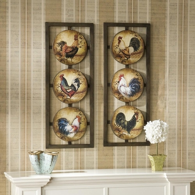 Rooster 2pc. Wall Panel Set - Holly and Martin
