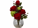 Rose and Hydrangea Silk Flower Arrangement - Nearly Natural - 1284
